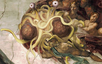 The Church of the Flying Spaghetti Monster happy