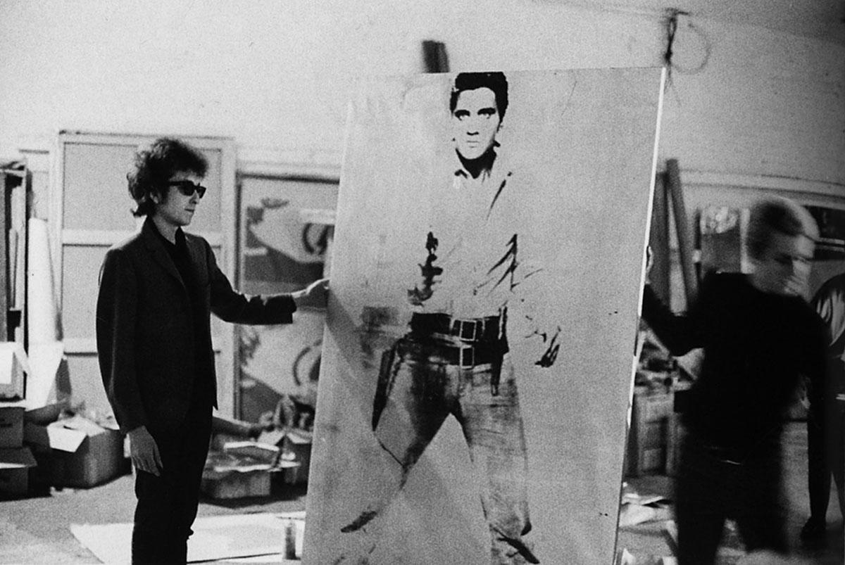 Bob Dylan with Elvis portrait