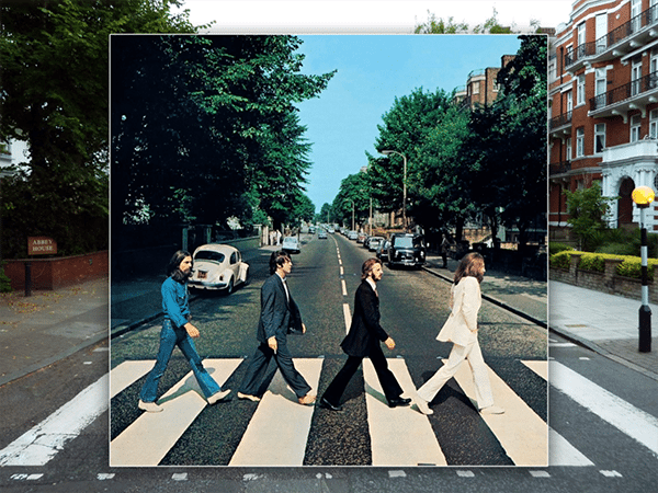 music history the beatles abbey road composite