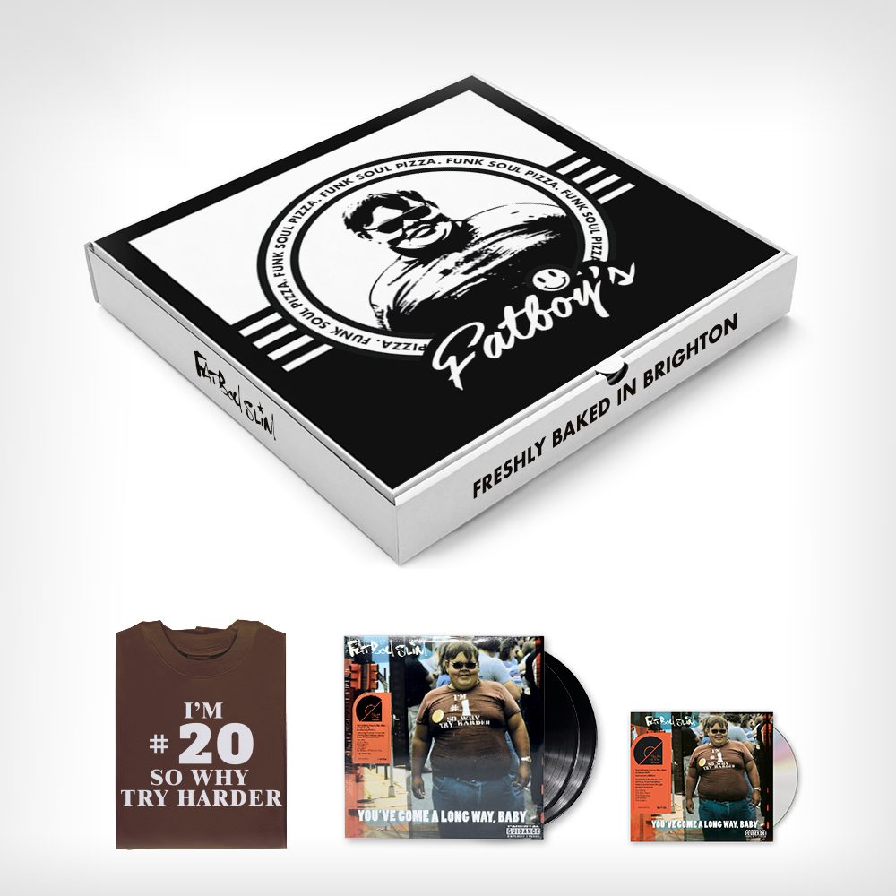 you've come a long way, baby pizza box reissue fatboy slim