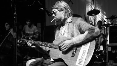 The cardigan from Kurt Cobain's final photo shoot just sold for a cool $75,000
