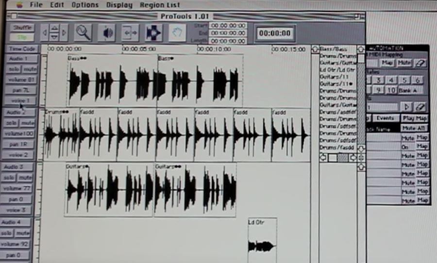 Pro Tools old screen