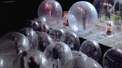 Watch The Flaming Lips perform live inside giant plastic bubbles