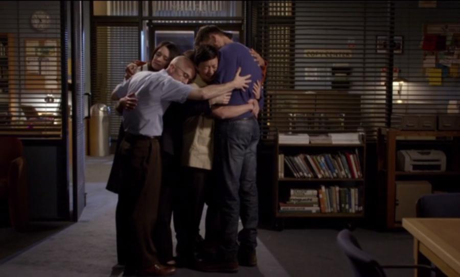 Community group hug
