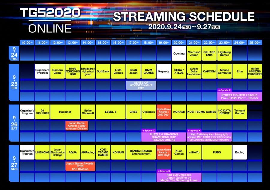 TGS 2020 Schedule