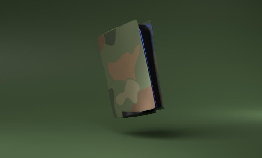 PS5 Plate Camo
