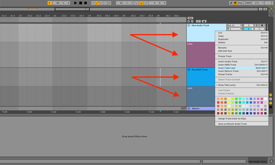 Ableton Live 11 Comping
